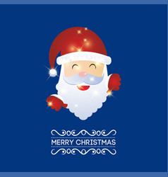 Merry christmas creative design with blue vector