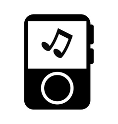 music player portable icon vector image