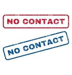 No Contact Rubber Stamps vector