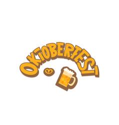 oktoberfest lettering vector image