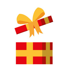 open giftbox present isolated icon vector image