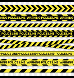 Police line and danger tape caution tape vector