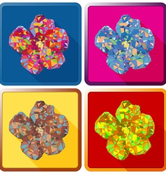 Rose of Sharon flowerPolygonal vector image