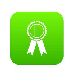 rosette icon digital green vector image