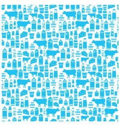 Seamless dairy products pattern vector image vector image