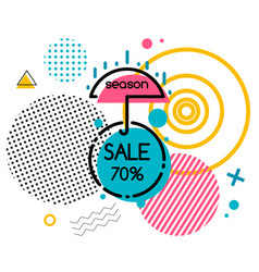 season sale 70 percent off isolated memphis badge vector image