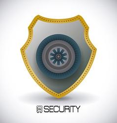 Secure box design vector