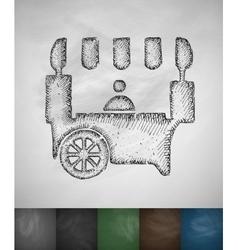 Shop on wheels icon vector