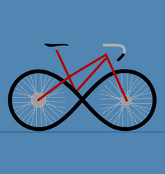 Sign of the bicycle as an infinity forward motion vector