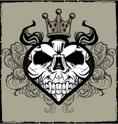 Skull Heart Tattoo vector