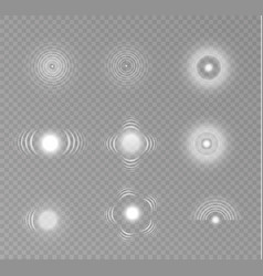 sonar waves isolated vector image
