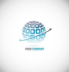 Sphere globe 3d blue logo icon design vector