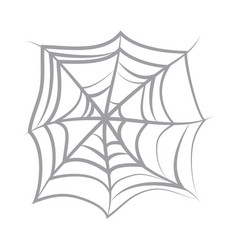 spider web icon on white background flat icon vector image