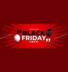 stylish black friday sale balloon banner design vector image