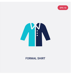 two color formal shirt icon from clothes concept vector image