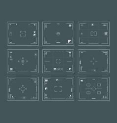 viewfinder interface digital filing dslr cameras vector image
