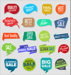 vintage style sale tags design collection 5 vector image