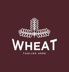 wheat vintage logo design vector image