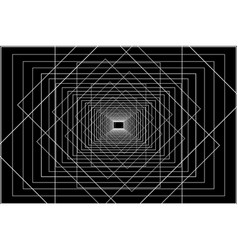 white lines on a black background vector image