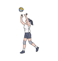 women volleyball player character vector image