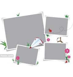 Childhood summer photo frames vector image vector image