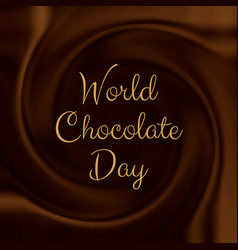chocolate background vector image vector image