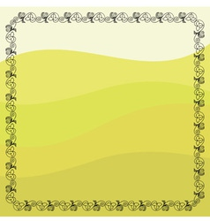 Grape vines frame vector image
