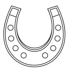 horseshoe icon outline vector image