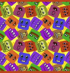 monster smileys seamless vector image vector image