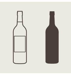 wine bottle sign set Bottle icon vector image vector image