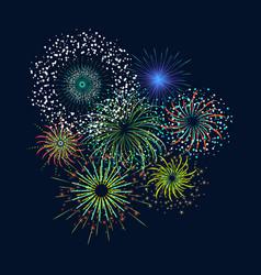 color celebration fireworks set vector image