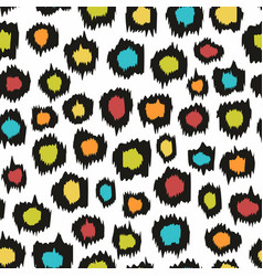 Colorful seamless pattern imitation leopard skins vector