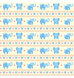 Elephant Blue Fun Pattern vector image vector image