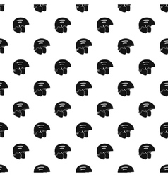 Ski helmet pattern simple style vector