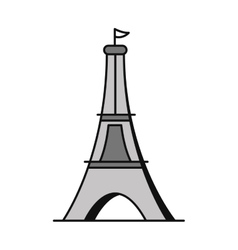 tower eiffel isolated icon vector image