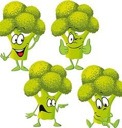 broccoli - funny cartoon vector image vector image