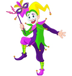 cartoon jester vector image vector image