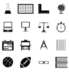 education icon set vector image