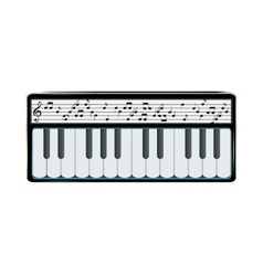 Electronic Synthesizer with Digital Display vector image