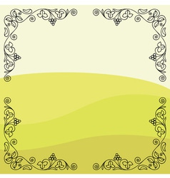 Grape vine frame vector image vector image