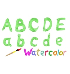 Watercolor font vector image