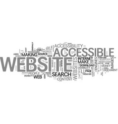 benefits of an accessible website part the vector image vector image