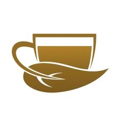 Bio organic tea vector image vector image