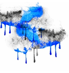 black and blue spots watercolors vector image vector image