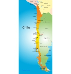Chile country vector image vector image
