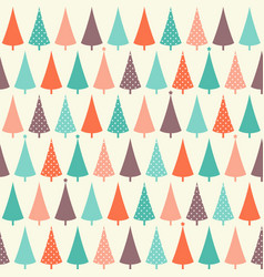 christmas seamless pattern with fir trees vector image vector image
