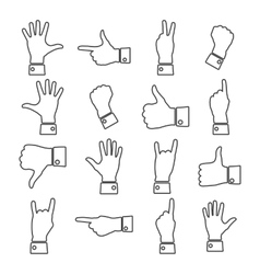 Icons hands vector image