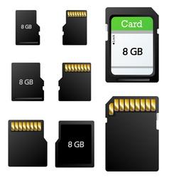 Memory card set vector image vector image