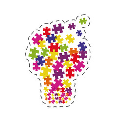 puzzle solution image graphic vector image