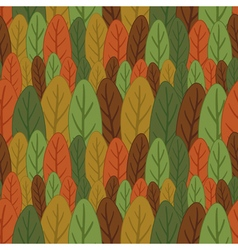 Seamless pattern of colored leaves vector image vector image
